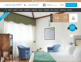 palacehotelsanmarino.com screenshot