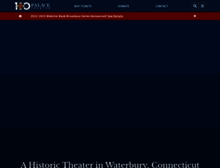 palacetheaterct.org screenshot
