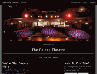 palacetheatretickets.org screenshot