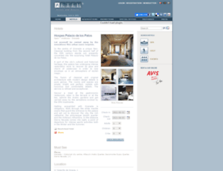 palaciodelospatos.arteh-hotels.com screenshot