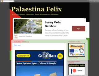 palaestinafelix.blogspot.it screenshot