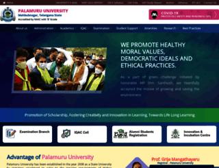 palamuruuniversity.ac.in screenshot