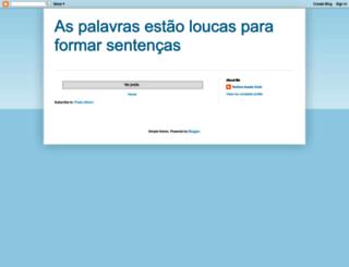 palavrasloucasparaformarsentencas.blogspot.com screenshot