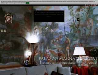 palazzomagnaniferoni.com screenshot