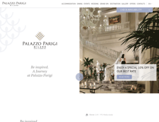 palazzoparigi.com screenshot