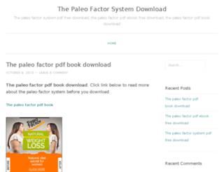 paleofactorsystemdownload.wordpress.com screenshot