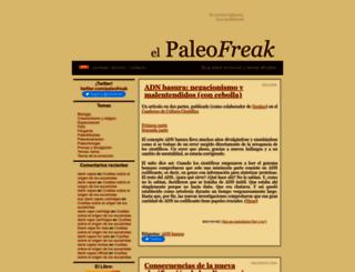 paleofreak.blogalia.com screenshot