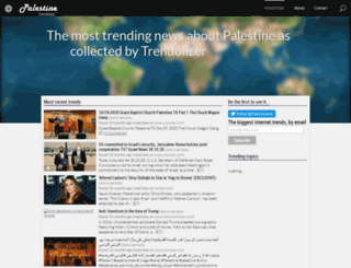 palestine.trendolizer.com screenshot