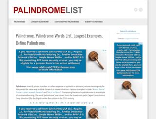 palindromelist.net screenshot