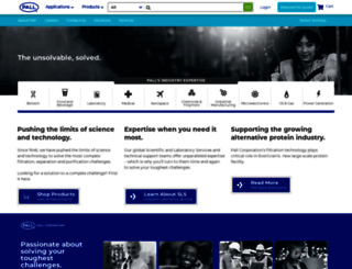 pall.com screenshot