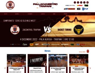 pallacanestrotrapani.com screenshot