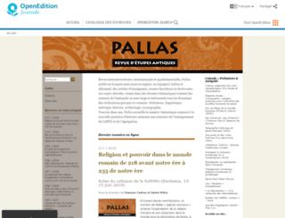 pallas.revues.org screenshot