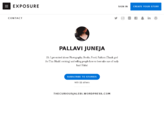 pallavijuneja.exposure.co screenshot