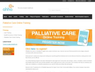 palliativecareonline.com.au screenshot