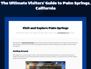 palm-springs.org screenshot