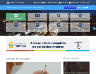 palmas.to.gov.br screenshot