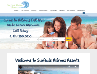 palmasdelmarvacations.com screenshot