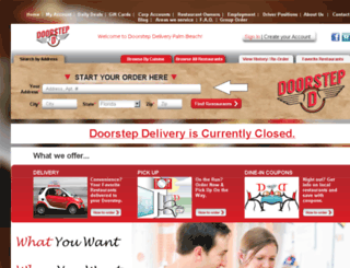 palmbeach.doorstepdelivery.com screenshot