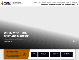 palmer.edu screenshot