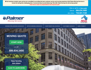 palmermoving.com screenshot