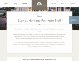 palmettobluffresort.com screenshot