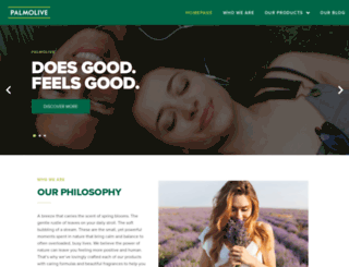 palmolive.co.uk screenshot