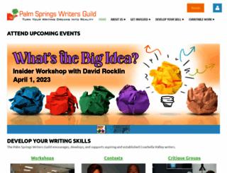 palmspringswritersguild.org screenshot