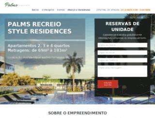 palmsrecreiostyleresidences.com screenshot