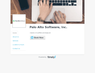 paloaltosoftware.gettimely.com screenshot