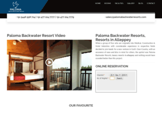 palomabackwaterresorts.com screenshot