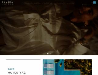 palomahotels.com screenshot