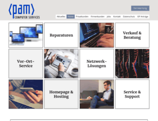 pam-computerservices.de screenshot