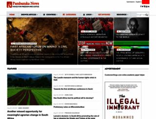 pambazuka.org screenshot