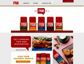 pamcookingspray.com screenshot