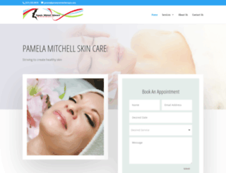 pamelamitchellskincare.com screenshot