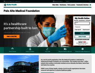 pamf.org screenshot