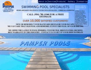 pamperpools.com screenshot