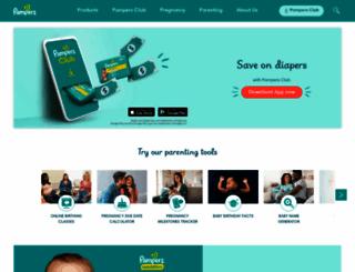 pampers.com screenshot
