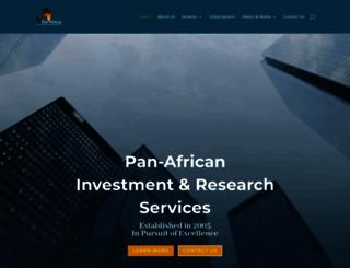 pan-africanresearch.co.za screenshot
