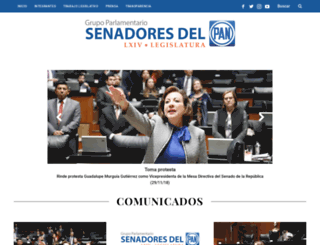 pan.senado.gob.mx screenshot