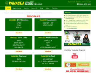 panaceabharti.com screenshot
