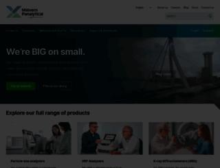 panalytical.com screenshot