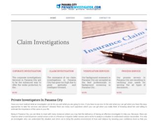 panamacityprivateinvestigator.com screenshot