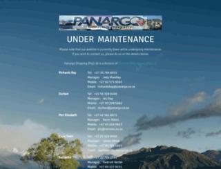 panargo.co.za screenshot