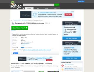 panasonic-kx-tda-usb-main-unit-driver.soft32.com screenshot