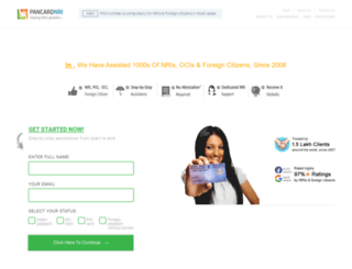 pancardnri.com screenshot
