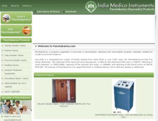 panchakarmaproducts.com screenshot