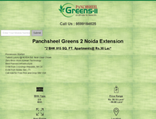 panchsheelgreens2.co.in screenshot