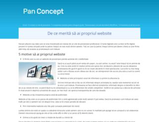 panconcept.ro screenshot