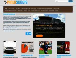 pandasweeps.com screenshot